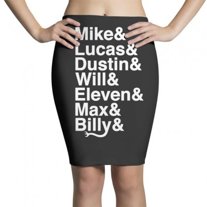Mike Lucas Dustin Will Eleven Max Billy Pencil Skirts Designed By Toweroflandrose
