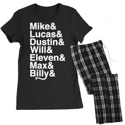Mike Lucas Dustin Will Eleven Max Billy Women's Pajamas Set Designed By Toweroflandrose