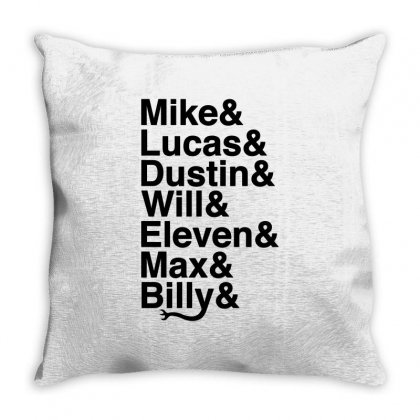 Mike Lucas Dustin Will Eleven Max Billy Throw Pillow Designed By Toweroflandrose