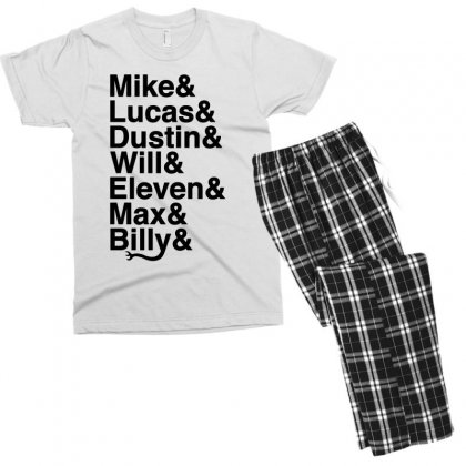 Mike Lucas Dustin Will Eleven Max Billy Men's T-shirt Pajama Set Designed By Toweroflandrose