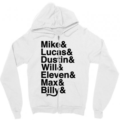 Mike Lucas Dustin Will Eleven Max Billy Zipper Hoodie Designed By Toweroflandrose
