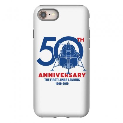 50th Anniversary The First Lunar Landing Iphone 8 Case Designed By Toweroflandrose