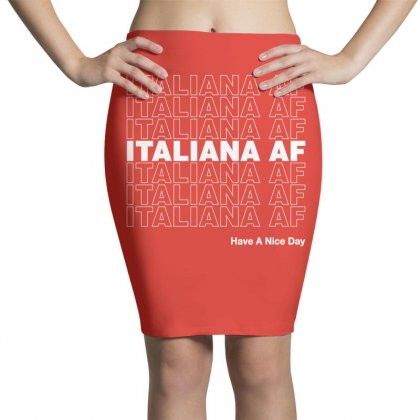 Italiana Af Have A Nice Day Pencil Skirts Designed By Toweroflandrose
