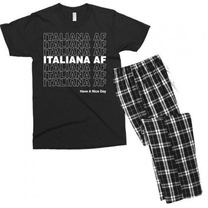 Italiana Af Have A Nice Day Men's T-shirt Pajama Set Designed By Toweroflandrose