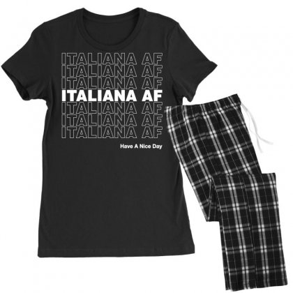 Italiana Af Have A Nice Day Women's Pajamas Set Designed By Toweroflandrose