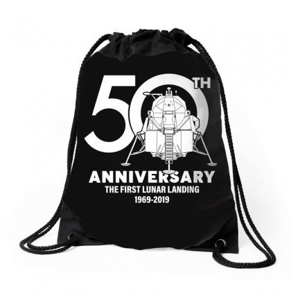 50th Anniversary The First Lunar Landing Drawstring Bags Designed By Toweroflandrose