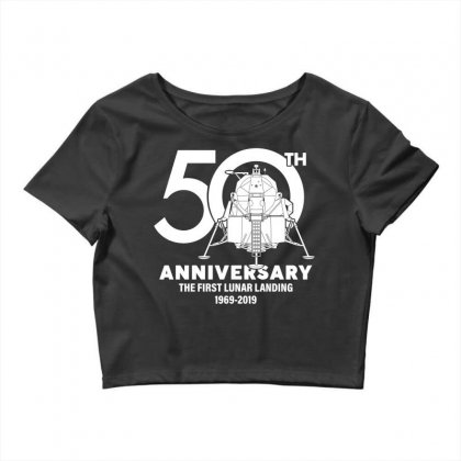 50th Anniversary The First Lunar Landing Crop Top Designed By Toweroflandrose