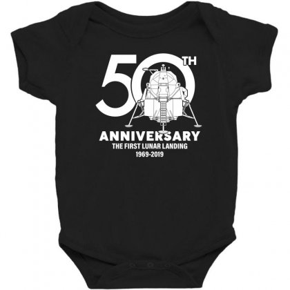 50th Anniversary The First Lunar Landing Baby Bodysuit Designed By Toweroflandrose