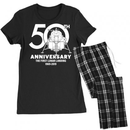 50th Anniversary The First Lunar Landing Women's Pajamas Set Designed By Toweroflandrose
