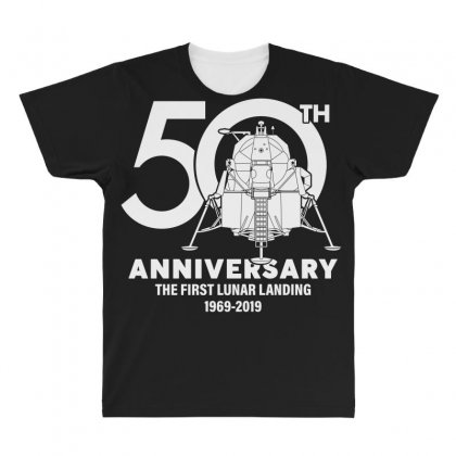 50th Anniversary The First Lunar Landing All Over Men's T-shirt Designed By Toweroflandrose