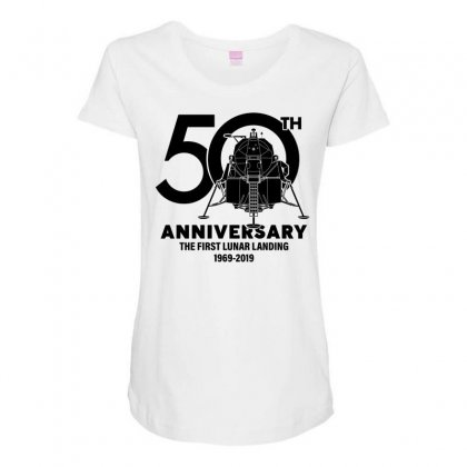 50th Anniversary The First Lunar Landing Maternity Scoop Neck T-shirt Designed By Toweroflandrose