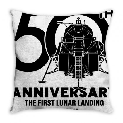50th Anniversary The First Lunar Landing Throw Pillow Designed By Toweroflandrose