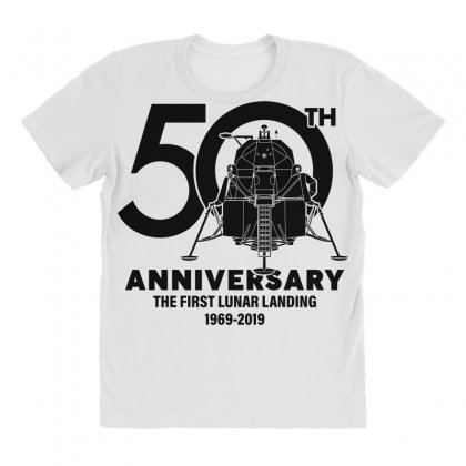 50th Anniversary The First Lunar Landing All Over Women's T-shirt Designed By Toweroflandrose