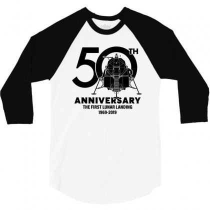 50th Anniversary The First Lunar Landing 3/4 Sleeve Shirt Designed By Toweroflandrose