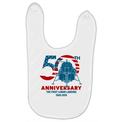 50th Anniversary The First Lunar Landing Baby Bibs Designed By Toweroflandrose