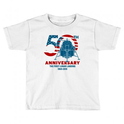 50th Anniversary The First Lunar Landing Toddler T-shirt Designed By Toweroflandrose