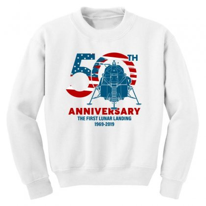50th Anniversary The First Lunar Landing Youth Sweatshirt Designed By Toweroflandrose