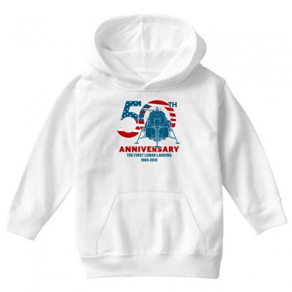 50th Anniversary The First Lunar Landing Youth Hoodie Designed By Toweroflandrose