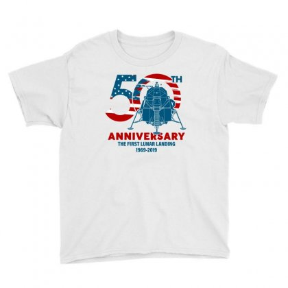 50th Anniversary The First Lunar Landing Youth Tee Designed By Toweroflandrose