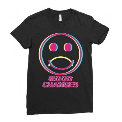 Mood Changes Ladies Fitted T-shirt Designed By Kleverolivier