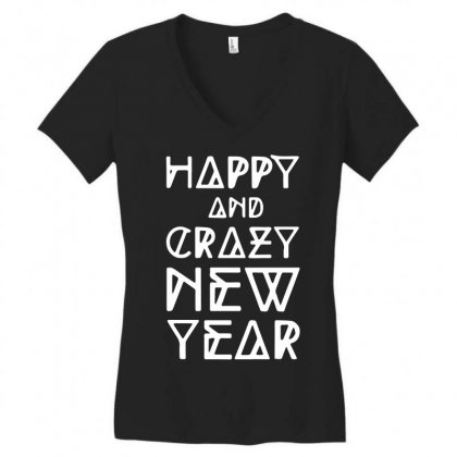 New Year 2016 Christmas Is Happiness Women's V-neck T-shirt Designed By L4l4pow