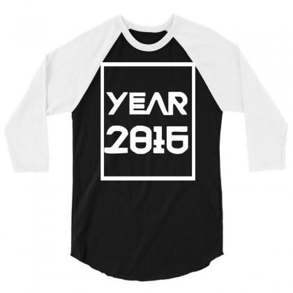 New Year 2016 Christmas 3/4 Sleeve Shirt Designed By L4l4pow