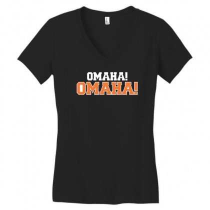 Omaha Omaha Women's V-neck T-shirt Designed By Riqo