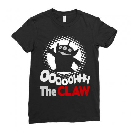 Alien Oooh Claw Ladies Fitted T-shirt Designed By Meganphoebe