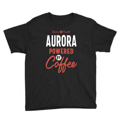 Aurora Powered By Coffee Youth Tee Designed By Cidolopez