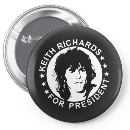 Keith Richards For President Pin-back Button Designed By Scarlettzoe