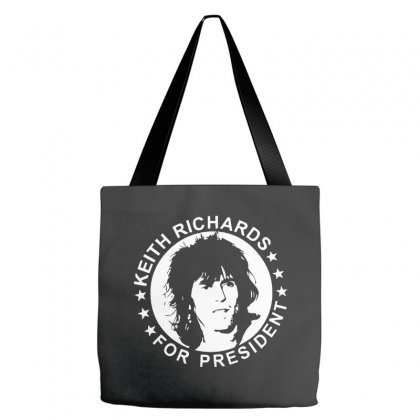Keith Richards For President Tote Bags Designed By Scarlettzoe