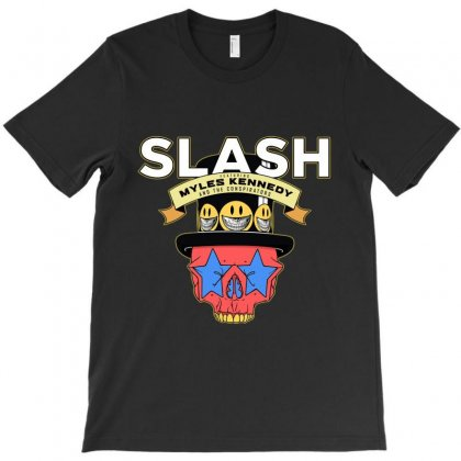 Slash Feat Myles Kennedy And The Conspirators Logo T-shirt Designed By Cuser1898