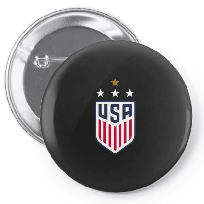 Uswnt Crest 4 Stars Pin-back Button Designed By Honeysuckle