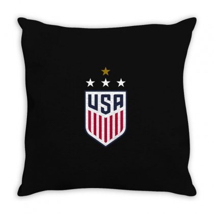 Uswnt Crest 4 Stars Throw Pillow Designed By Honeysuckle