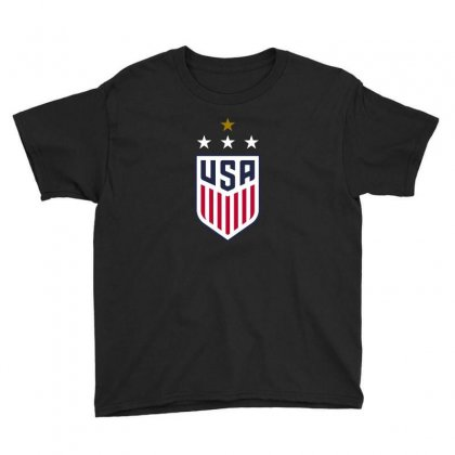 Uswnt Crest 4 Stars Youth Tee Designed By Honeysuckle