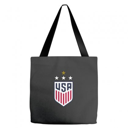 Uswnt Crest 4 Stars Tote Bags Designed By Honeysuckle