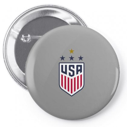 Uswnt Crest 4 Stars For Light Pin-back Button Designed By Honeysuckle