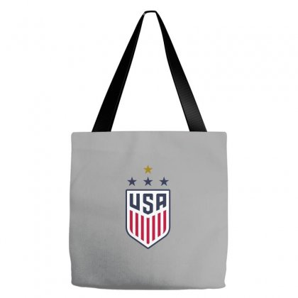 Uswnt Crest 4 Stars For Light Tote Bags Designed By Honeysuckle