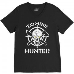zombie hunter V-Neck Tee | Artistshot