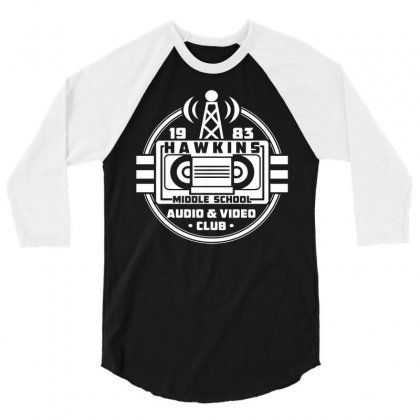 Audio Video Club 3/4 Sleeve Shirt Designed By Viral Style