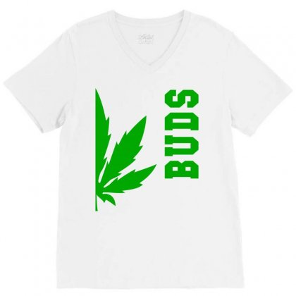 Buds Best Buds Matching Couples V-neck Tee Designed By Bpn Inside