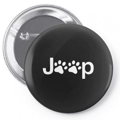 Funny White Jeep Paw Prints Dogs Pin-back Button Designed By Meganphoebe