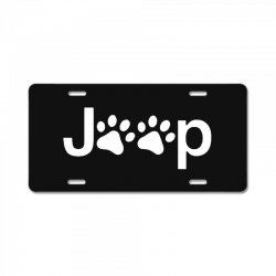 funny white jeep paw prints dogs License Plate | Artistshot