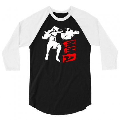 Mma Fight 3/4 Sleeve Shirt Designed By G3ry