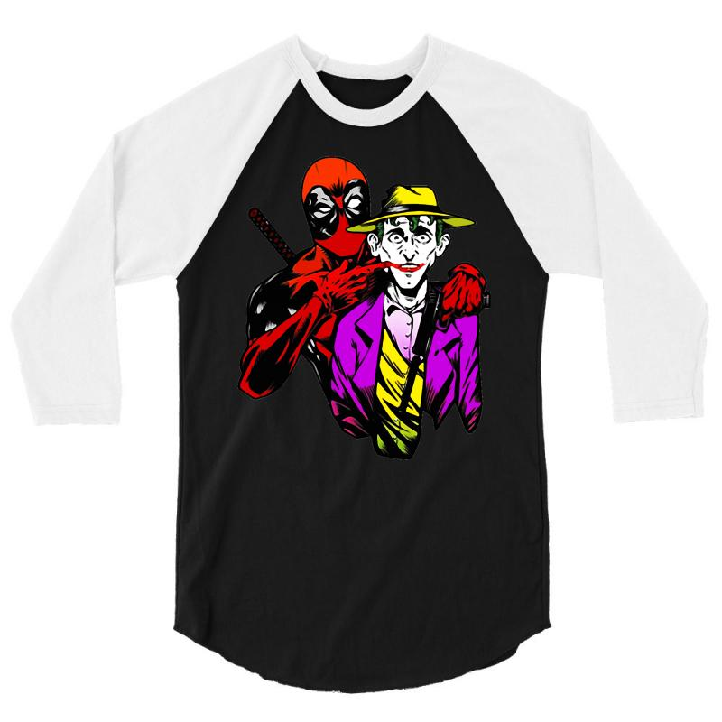 Comic Con   Out Crazing Crazy Deadpool Joker Comic Con 3/4 Sleeve Shirt | Artistshot
