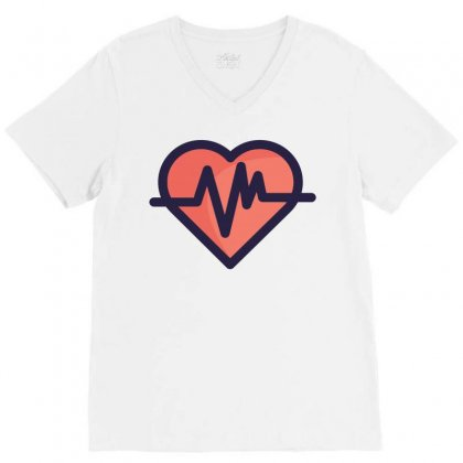Cardiogram V-neck Tee Designed By Akhtar21