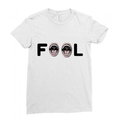 Fool Ladies Fitted T-shirt Designed By Perfect Designers