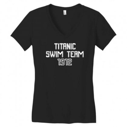 Titanic Swim Team 1912 Funny Women's V-neck T-shirt Designed By Fanshirt