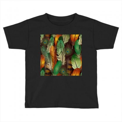 Feathers Realistic Pattern Toddler T-shirt Designed By Salmanaz