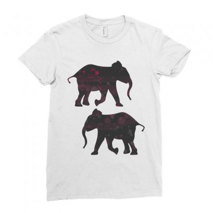 Velvet Space Elephant Ladies Fitted T-shirt Designed By Maico